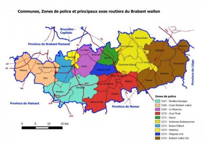 Police gouverneur du brabant wallon for Zone commune